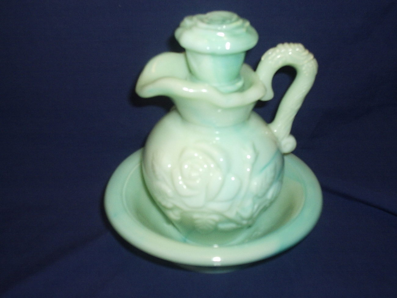 Avon Green Cruet & Soap Dish Aqua Marine and 50 similar items