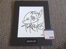 Skrillex DJ Sonny Moore Signed Autographed Matted 11x14 Sketch PSA Certi... - $199.99