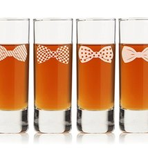 Bowties Collection Tall Shot Glass (Set of 4) - $19.99