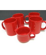 Set of 4 Waechtersbach Red Mugs and a Creamer Spain - $26.73