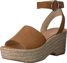 Dolce Vita Women's Lesly Wedge Sandal, Saddle Suede, 9.5 M US - $37.19