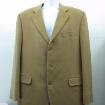 LORO PIANA 3 Button 100% CASHMERE Light Brown Tan Sport Coat Blazer 44L - $96.46 CAD