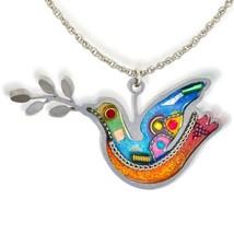 The Artazia Collection Seeka Turquoise Peace Dove Fashion Necklace Curat... - $83.95