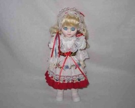 "Cute 11 1/2"" SWISS Girl Doll Traditional Dress - $26.03"