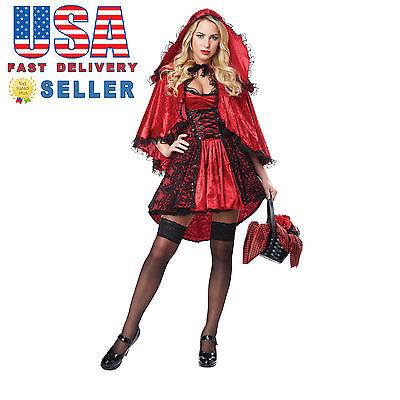 California Costumes Deluxe Red Riding Hood Women`s adult Halloween Cosplay 01300