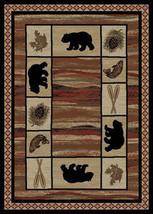 """4x6 (3'11"""" x 5'3"""") Lodge Cabin Rustic Bear Pine Fish Area Rug  **FREE SH... - $69.00"""