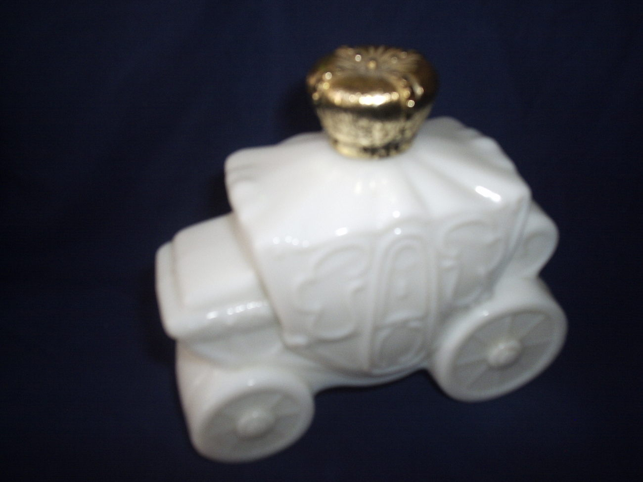 Avon White Carriage Decanter Collectible