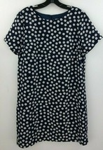 J Crew Dress 10 Printed Gallery Shift Dress c5608 Blue Polka Dot Short S... - $24.14