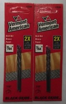 "Vermont American 12234 Black Oxide Drill Bit 7/64"" x 2-5/8"" 2 - 2-Packs - $3.00"
