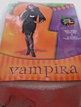 VAMPIRA ADULT COSTUME  UP TO SIZE 16 BY DISGUISE - £18.28 GBP
