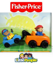 EUC FP Little People Things That Go Racecar Driver Tow Truck Machanic Ca... - $8.95