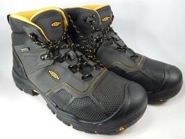 Keen Logandale Sz 14 2E WIDE 47.5 Men's WP Steel Toe Work Boots Black 10... - $128.70 CAD