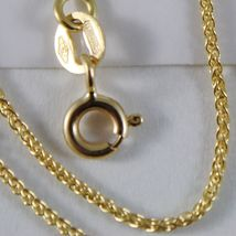 SOLID 18K YELLOW GOLD SPIGA WHEAT EAR CHAIN 24 INCHES, 1.2 MM, MADE IN ITALY image 4