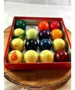 Set of Pool Balls made in Belgium vintage antiq... - $29.02