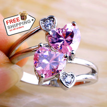 Lady Heart Pink Topaz Sapphire Jewelry Fashion Women - $19.00