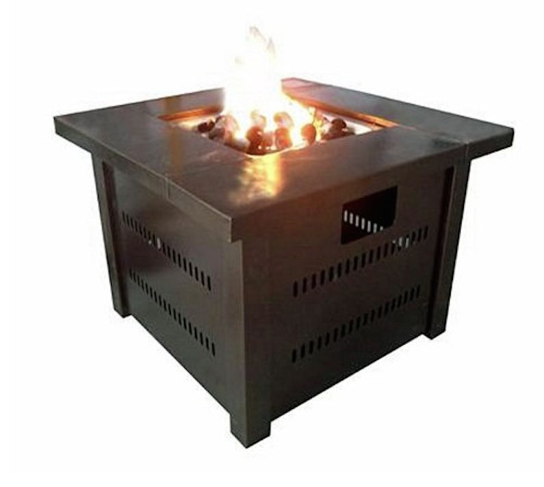 Patio Fire Pit Outdoor Fireplace Deck Gas Propane Heater Table Furniture Stov