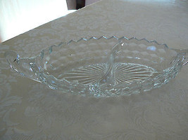 Vintage Fostoria American Pattern #2056 - Divided Relish Dish - $16.34