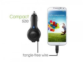 "Professional Retracatble Samsung GALAXY Nexus CDMA Car Charger with """"One-Tou... image 6"