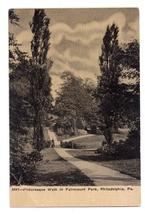 Philadelphia PA Fairmount Park Walk Path Vintage Postcard - $4.99