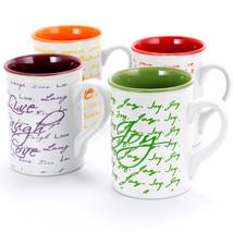 Gibson Inspirational Words 16 oz Mug 4 Assorted Designs - $35.15