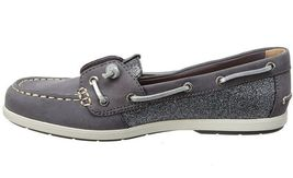 Sperry Top-Sider Women's Coil Ivy Dark Grey Leather Sparkle Boat Shoes STS99659 image 3