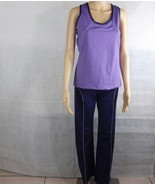 New Women's Sport tight leggings pants Gym Workout   Dark Purple w match... - $16.83