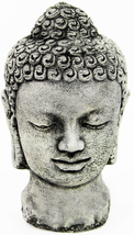 Buddha Head Medium Concrete Statue  - $64.00