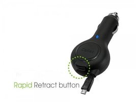 "Professional Retracatble Celkon A8+ Car Charger with """"One-Touch"""" rapid butt... image 3"