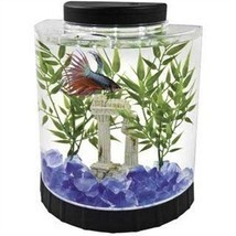 Fish Tank Tetra Half Moon Desk Table Top Office Home Room Aquarium 1.1 G... - £25.29 GBP
