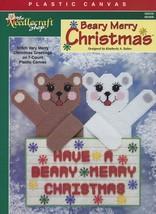 Beary Merry Christmas, Plastic Canvas Pattern TNS 983008 Holiday Greetin... - $3.95