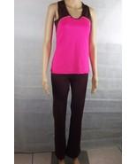 New Women's Sport tight leggings pants Gym Workout Pink & brown w matchi... - $16.83
