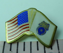 American Flag Teamsters Flag Pin Early 1990s - $19.95