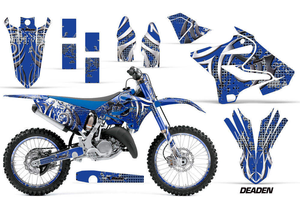 Decal Graphic Kit Wrap + Number Plates For Yamaha YZ125 YZ250 2015-2018 DEADEN U