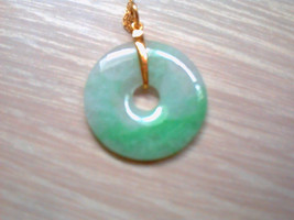 Vintage 18CT Gold Mounted Chinese Jade Disk Pendant - £688.11 GBP
