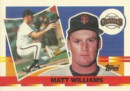 1990 Topps Big #96 Matt Williams - $0.50