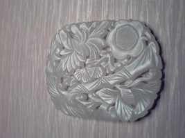Fine Chinese Hetian Jade Carved Bamboo And Flowers Pendant - $280.00