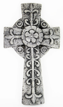 Rosette Cross Concrete Wall Plaque  - $59.00