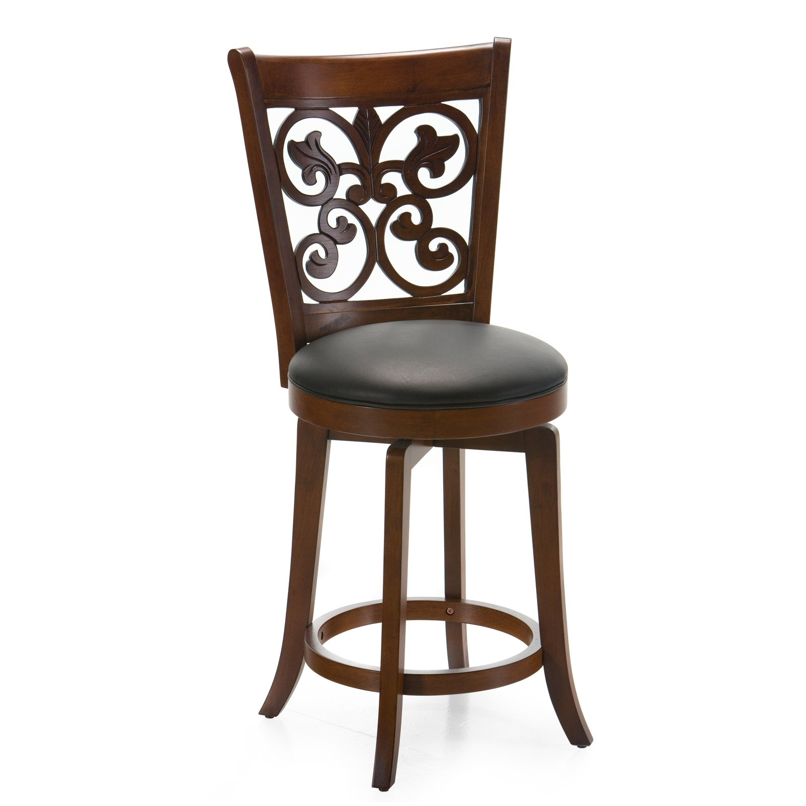 Brown Counter Stool Home Kitchen Bar Pub Dining Room