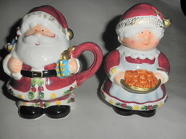 Mr. & Mrs. Santa Claus Creamer & Sugar Bowl - $19.75