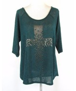 LANE BRYANT Size 18W, 20W Lightweight Studded Loose Knit Top - $16.99