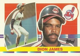 1990 Topps Big #132 Dion James	 - $0.50