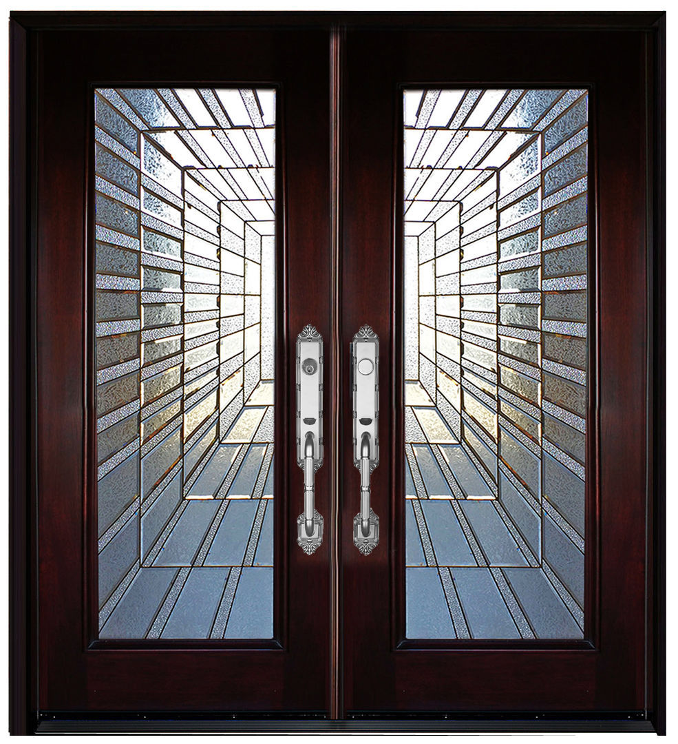 Exterior front entry double house wood door m300i 30 x80 - 30 x 80 exterior door with pet door ...