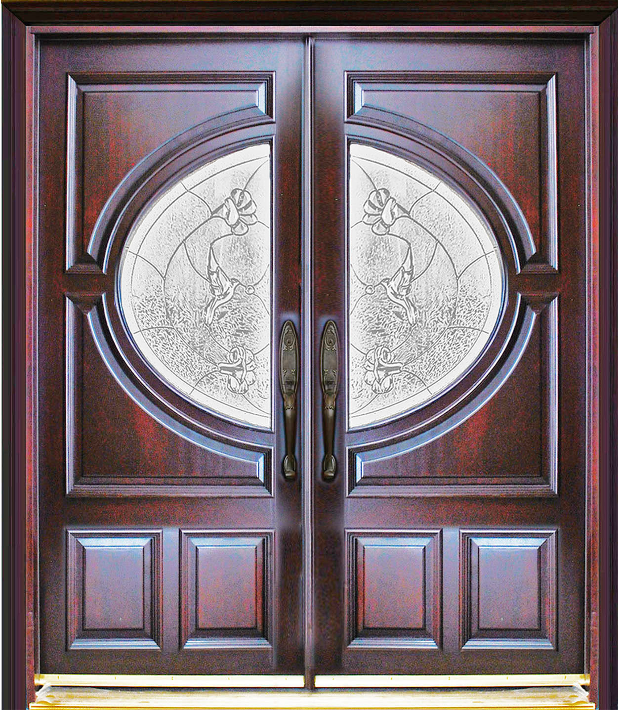 Mahogany double exterior front entry wood door 580a 30 x80 for Exterior wood entry doors