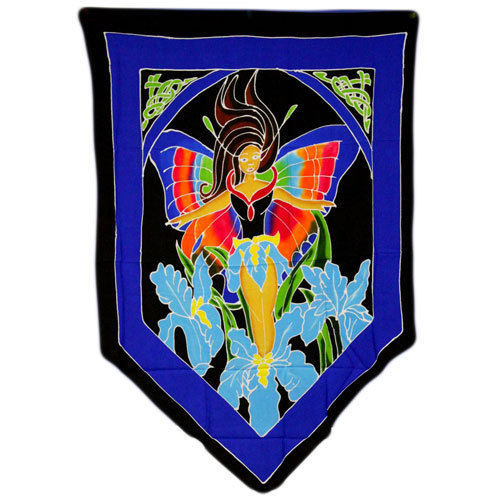 PAGAN/SPIRITUAL Butterfly Goddess Drop Banner/wall hanging.70x84cm