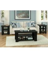 Altra Coffee Table Black Ebony Ash Living Room College Dorm Den Decor 2... - $138.38