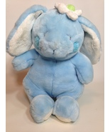 Animal Alley Blue Bunny Rabbit Lop Ear Plush White Flower Easter Toys R ... - $24.99
