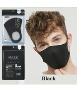 BLACK MASK~ FACIAL COVERING~ Low Air Resistance Breath more Smoothly 3 M... - $13.83