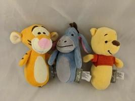 "Hallmark Winnie the Pooh Eeyore Tigger Plush Rattle Bells Squeak Lot 5"" ... - $19.95"