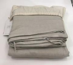 Restoration Hardware Garment-Dyed Linen Duvet Cover Full/Queen Dune NEW ... - $219.99