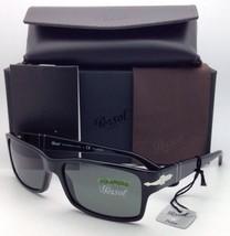 79338985f9 Polarized PERSOL Sunglasses 2803-S 95 58 58-16 Black Frame w